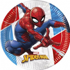 8 Spiderman Paper Party Plates